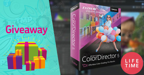 giveaway ban quyen mien phi cyberlink colordirector