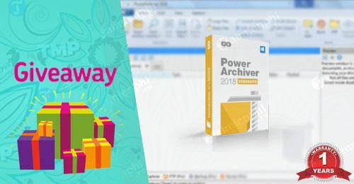 giveaway ban quyen mien phi PowerArchiver 2018 nen va giai nen file