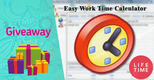 giveaway ban quyen mien phi easy work time calculator tinh toan sap xep thoi gian lam viec