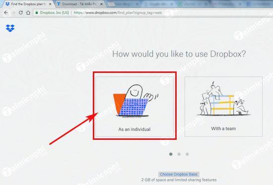 Đăng ký Dropbox, tải và lưu file trực tuyến miễn phí 2