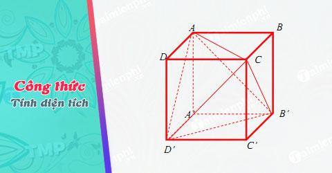 Công thức tính diện tích hình lập phương