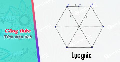 Công thức tính diện tích lục giác