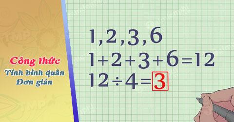 Công thức tính trung bình cộng đơn giản 0