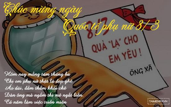 Ảnh chế 8/3, tổng hợp ảnh hài hước 8/3 độc đáo nhất 5