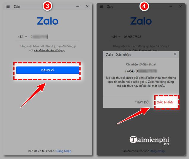 [taimienphi.vn] cách đăng ký zalo, tạo tài khoản zalo trên điện thoại và máy tính