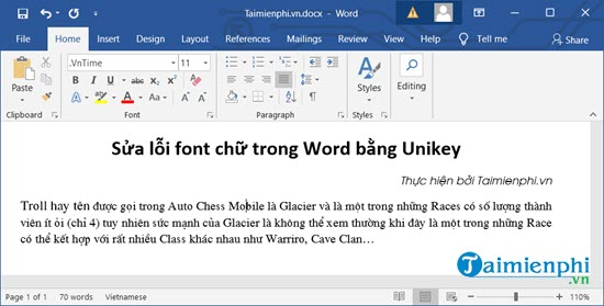 cach sua loi font chu rong Word, excel