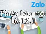 Zalo 18.12.1 có gì mới?